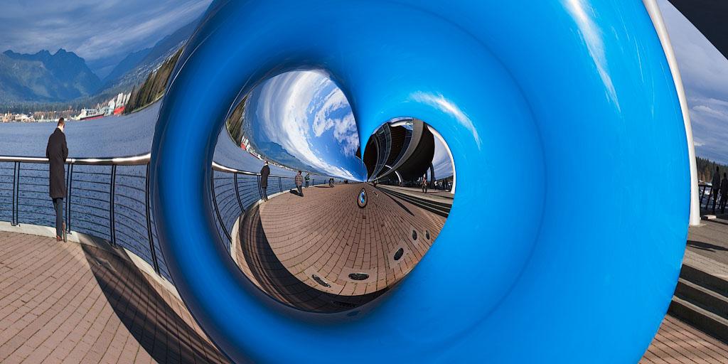 "'Vancouver Blue Warp' -45""x 90"""